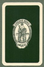 Beer Advertising  playing cards Greene king fine ales